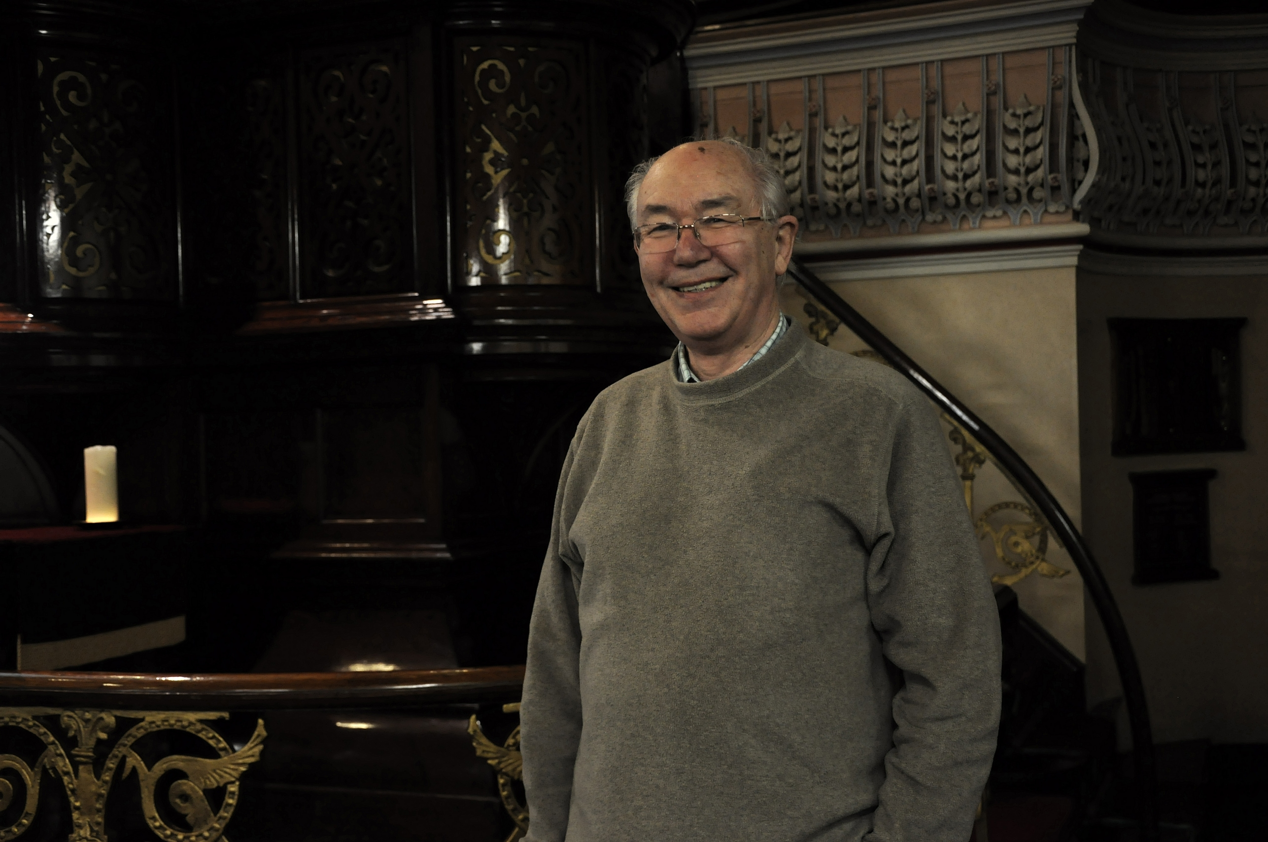 Michael Tranter prior to giving a talk on Lord Leverhulme