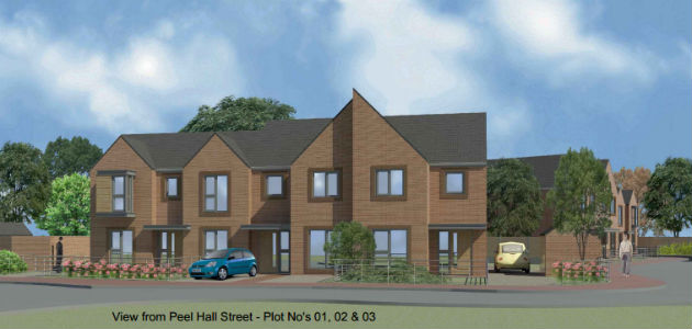 An artists impression of how the Peel Hall Street development could look