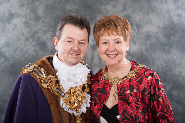 Councillor Crompton, left, has been the Mayor for the Guild year