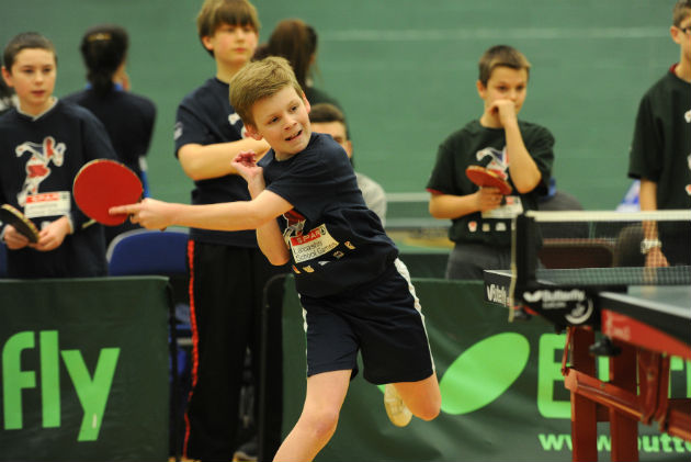 Top shot: Adam Oldfield from Broughton buiness and enterprise competes in the table tennis