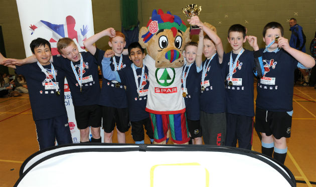 Moor Park celebrate their football victory