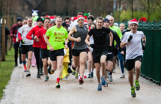 The parkrun at Christmas attracted some runners in fancy dress