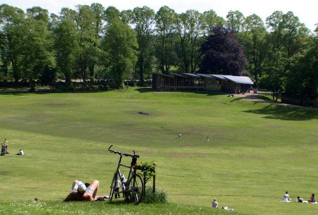 Sunbathers head for Avenham Park earlier this week as the sun shines down on Preston
