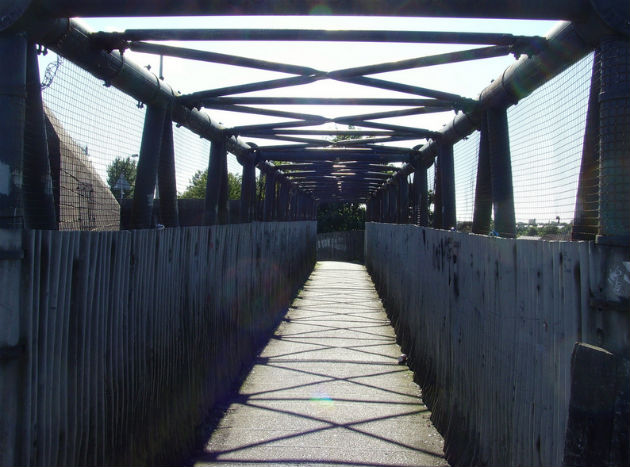 The current bridge on Cadley Causeway is being removed and replaced
