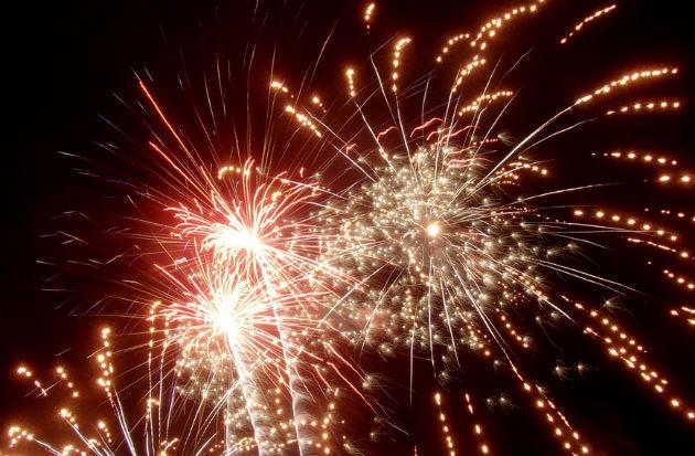 Fireworks lit up Preston Dock for the Riversway Festival 2013