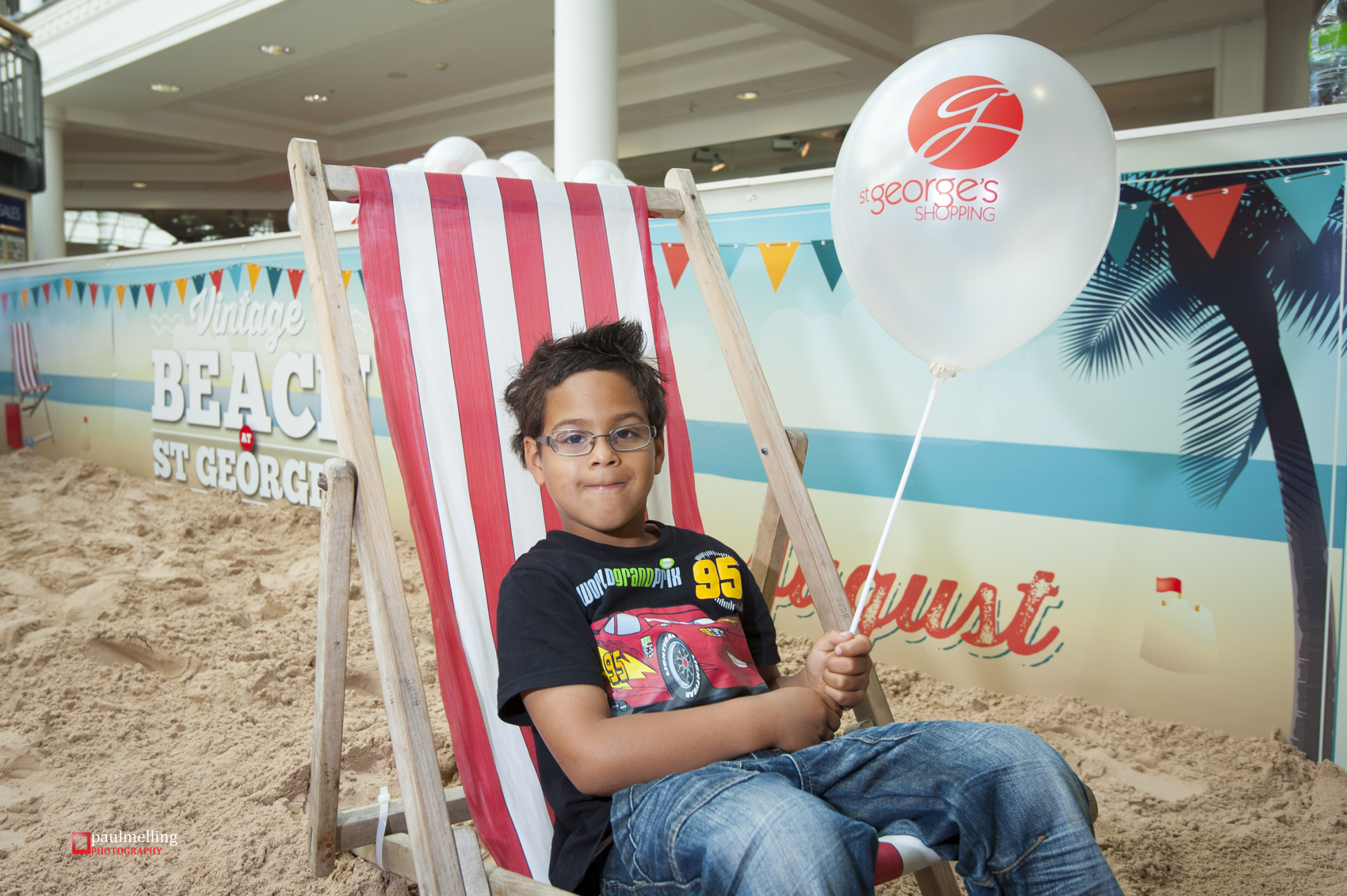 Eduardo was the first visitor to the new beach