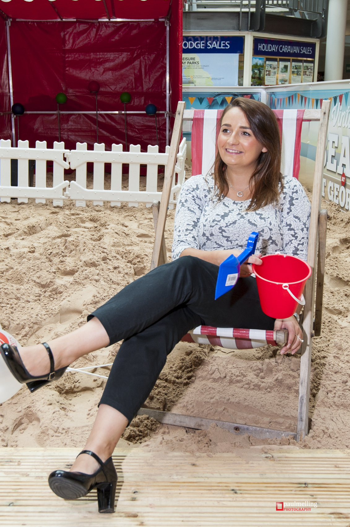 Alanna from the St George's centre hopes the beach will bring in more shoppers