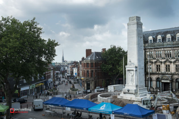 Preston's Cenotaph has been undergoing a facelift