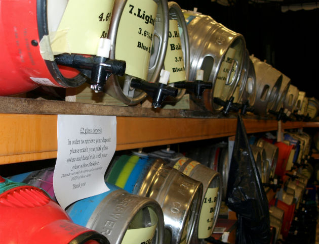 Kegs at the Conti beer festival