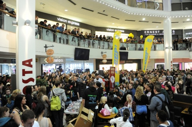 Students throng the halls of the St George's Centre