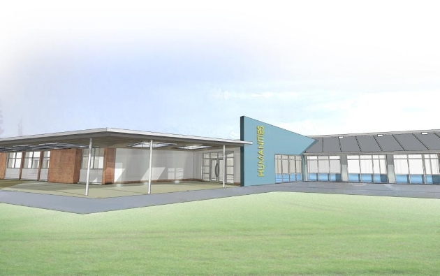 Proposed languages and humanities building at Penwortham Priory Academy