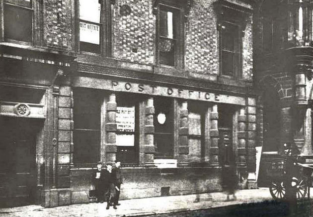 The old Preston Post Office on Fishergate in 1903