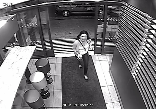 A CCTV image released by Lancashire Police showing the woman wanted in connection with the attack