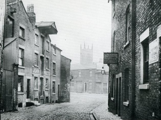 Lills Court, a narrow lane ran between Friargate and Back Lane.