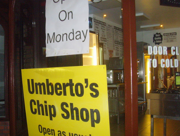 Umberto's has been restored following the fire damage