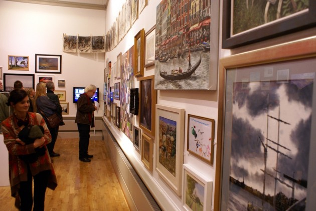First night of the Harris Open Exhibition (Courtesy Bernie Blackburn)