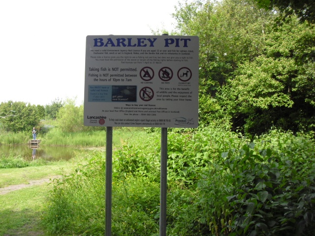 New sign Barley Pit