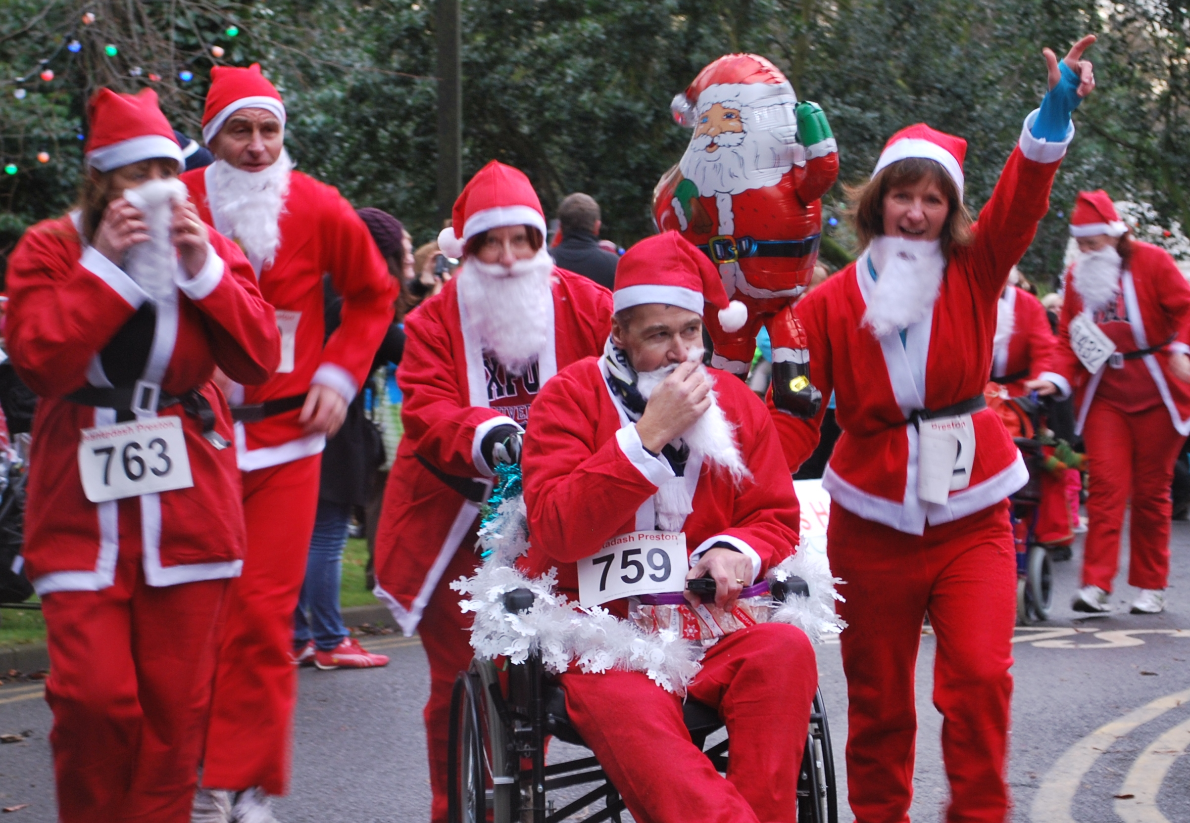Santa Dash On Wheels