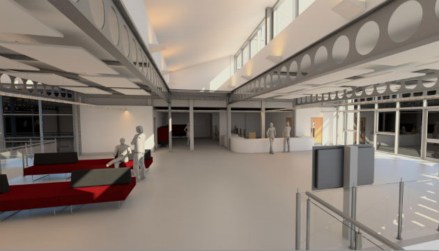 How the interior of the new In Zone building could look, it would link the two parts of the campus together