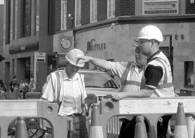Workman on Fishergate
