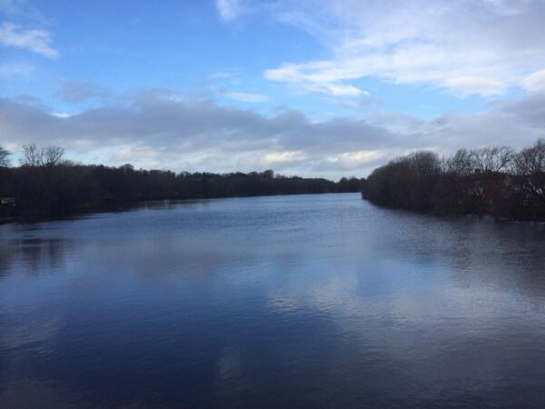 Chris Idaho tweeted this picture of the Ribble after heavy rain
