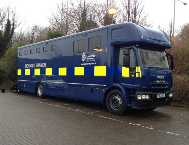 mounted police lorry