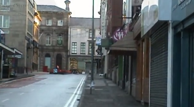 A screengrab from the city centre film