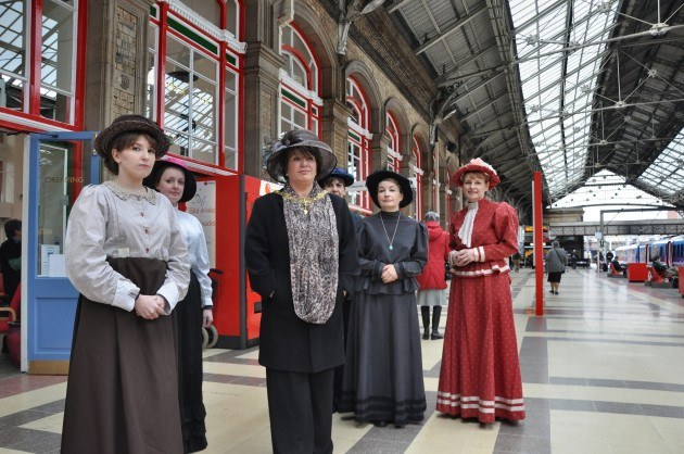 How the volunteer ladies would have looked on the station platform in 1915 along with the Preston Mayoress