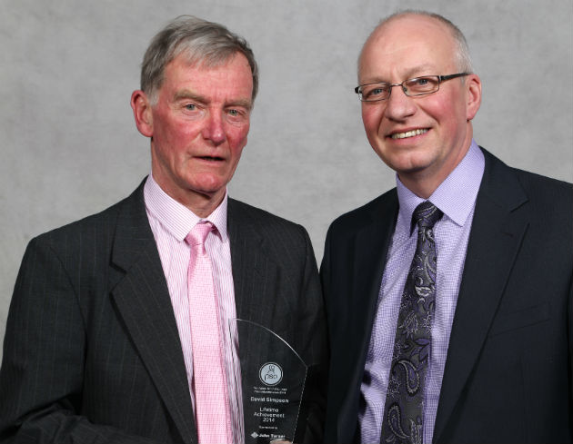 David Simpson (left) won the oustanding achievement award