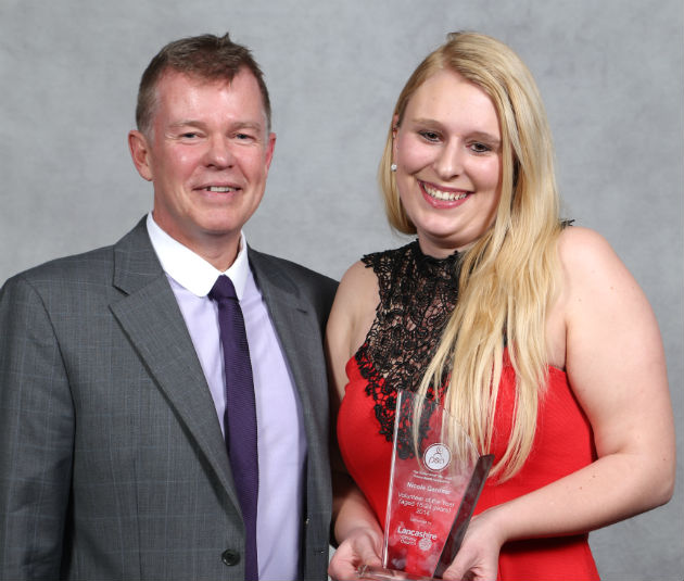 Nicole Gardner was volunteer of the year