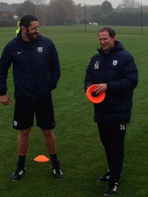 Wade Barrett with Simon Grayson