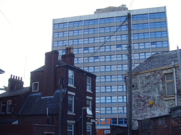 The former BT building stands empty on Moor Lane