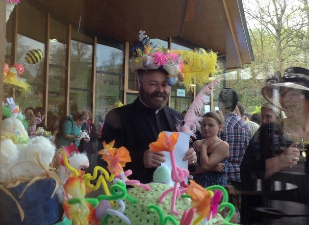 Revd Timothy Lipscombe truly in Easter spirit. By courtesy of Wendy Fitzgerald of Fulwood, Preston.