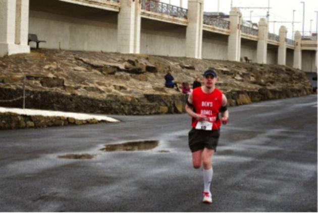 Ben at Blackpool Marathon