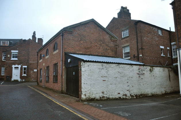 The rear of Camden Place which would be converted