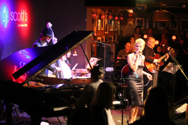 Justin performing at the legendary Ronnie Scotts in London
