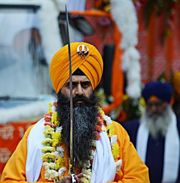 Swordsman on the procession route