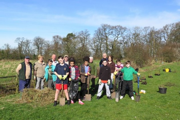 Some of the volunteers from the Penwortham Nature Conservation group