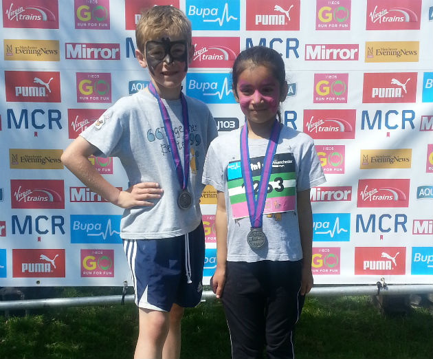 James and Tia after finishing the Mini Marathon