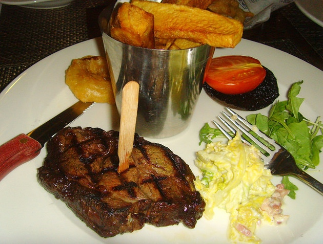 Argentine rib eye steak,