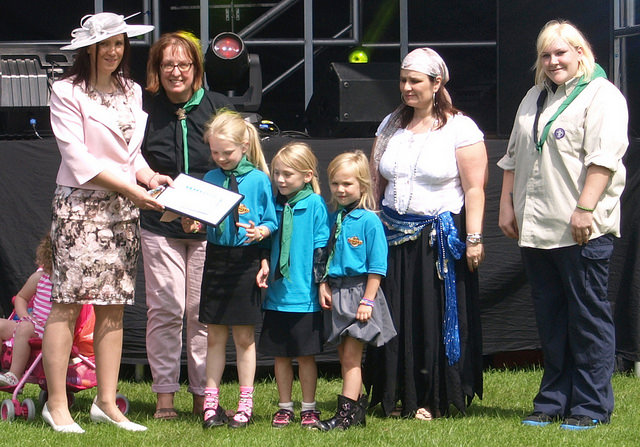 Prize giving at Penwortham Gala 2014