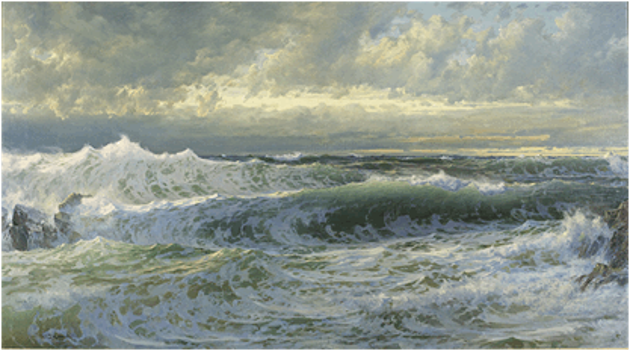William T Richards, After A Gale, 1903
