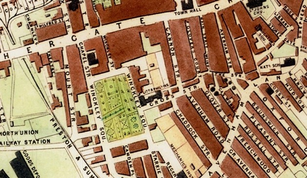 Extract From John Tallis's Map Of Preston 1852