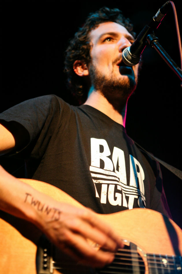 Frank Turner 11 May 2008 in The Club Frank Turner made several appearances at 53 Degrees, most as support for a main act. Less than four years after this picture was taken, he sold out Wembley Arena.