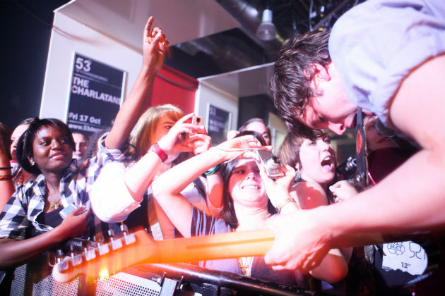 Friendly Fires performed 29 September 2008 in The Club before becoming a household name