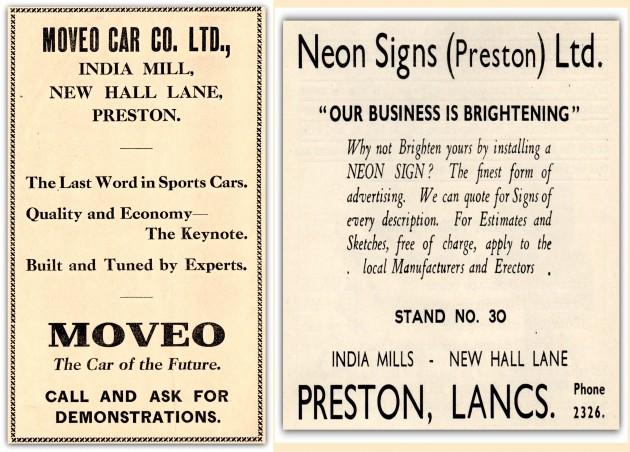 Moveo Car Co. Ltd., & Neon Signs, India Mill, New Hall Lane, Preston