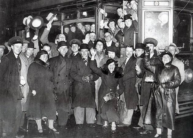 The final tram to depart from Fulwood Preston. December 15th 1935