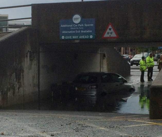 Andy Hilbert snapped this motorist in trouble at the Fishergate car park