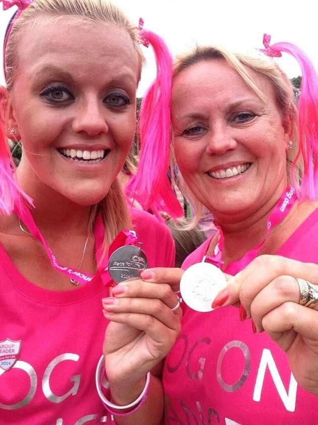 Danni Clare sent us her finishline selfie - big on pink!