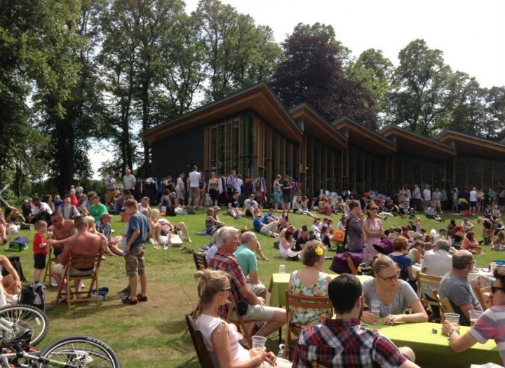 Crowds at Avenham Park pavilion at last year's festival